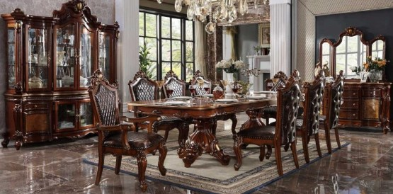 Acme Picardy Dining Room Set