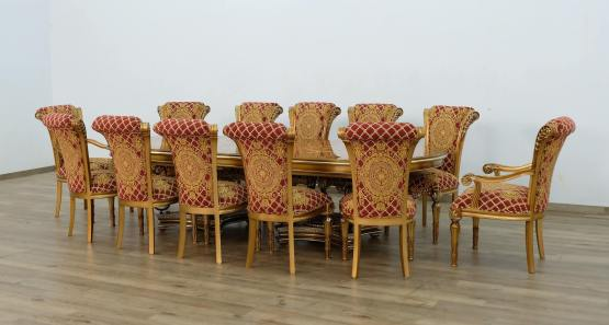 Valentina Dining Set With Red Gold Chair