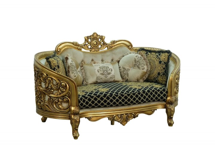 European Furniture Bellagio Antique Bronze Loveseat