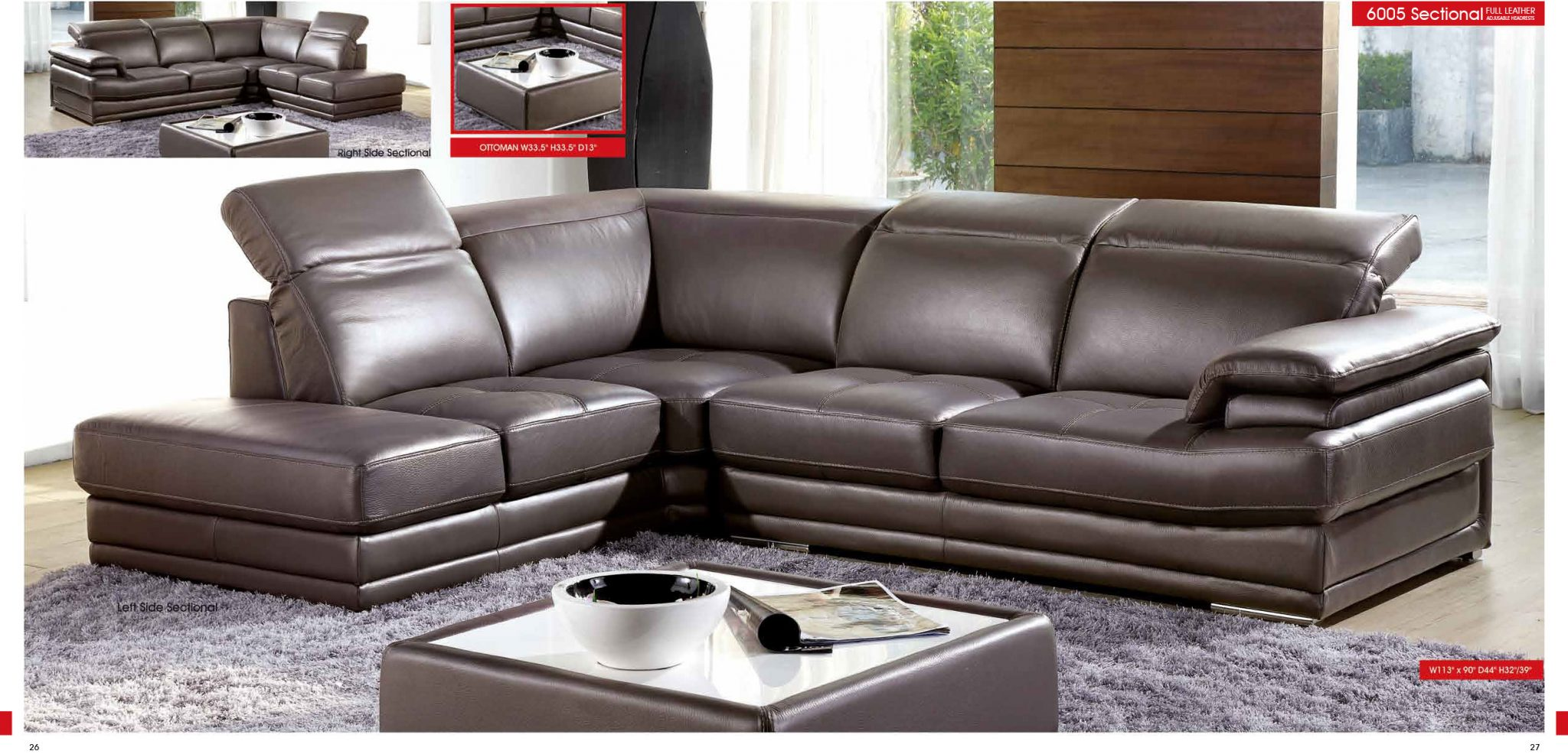 sofa gray color leather consumer reports esf modern grey genuine italian sectional 6005