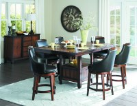 7-Pc Homelgance Bayshore Counter Height Dining Set