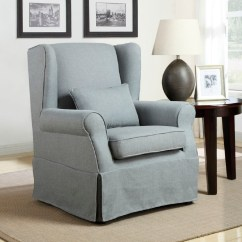 Accent Chair Gray Blue Upholstered Homelegance Grey