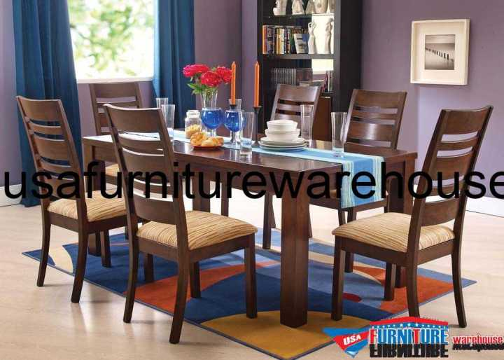Everest Walnut Finish Dining Set