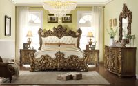 5-Pc HD-8008 Homey Design Golden Royal Palace Bedroom Set