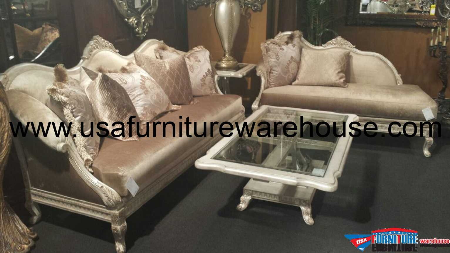 Couch And Chaise Lounge Set