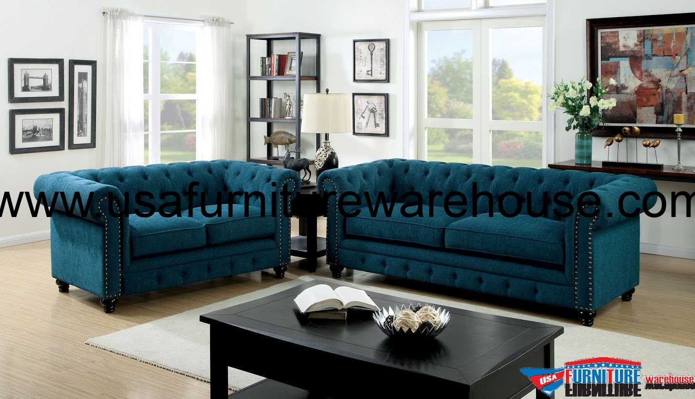 dark teal sofa font awesome 3 piece stanford fabric set foa 6269sf