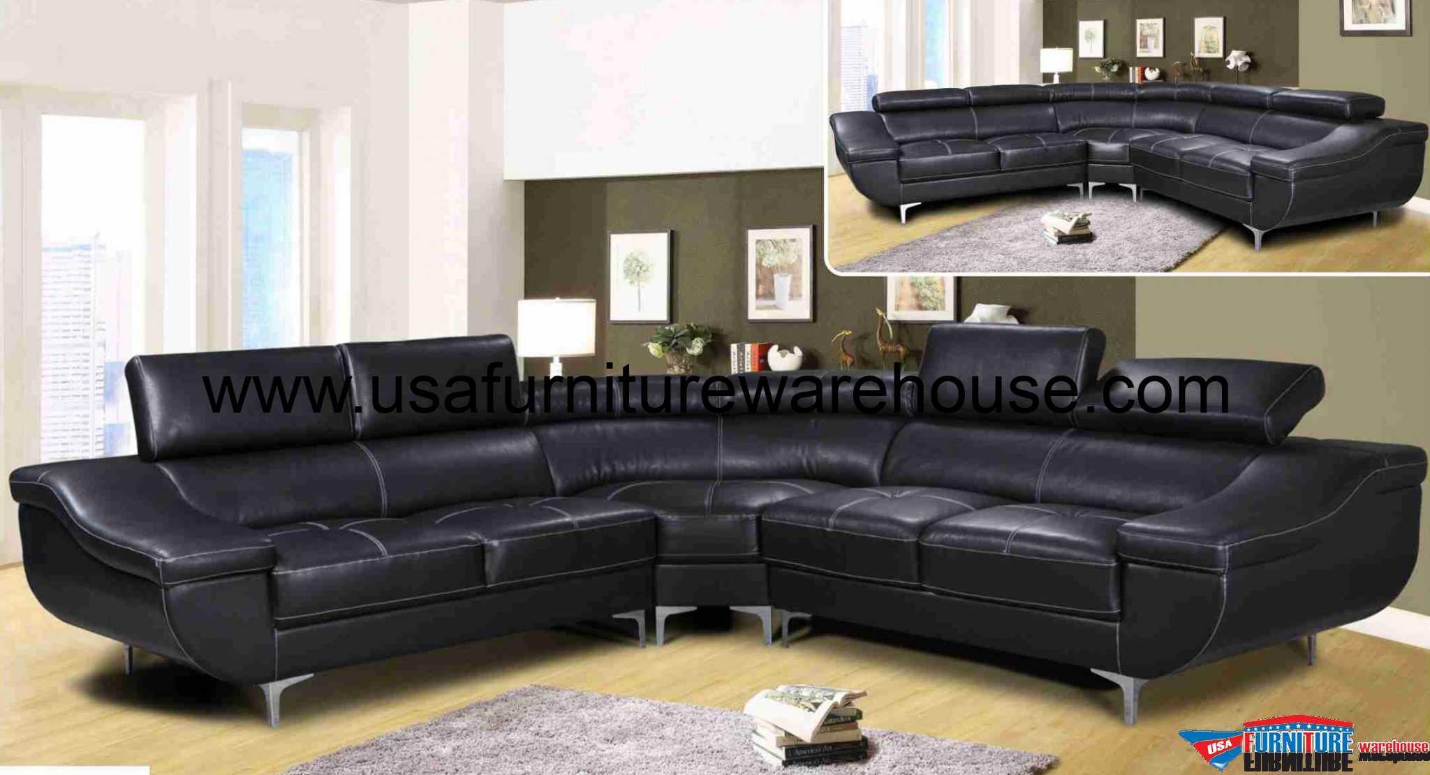 left arm return sofa single dima modern genuine black leather sectional with ...