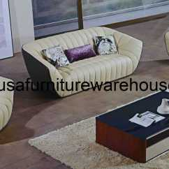 3 Piece Toddler Sofa Set American Heritage Furniture Leather Forma Italian Top Grain Cream Taupe