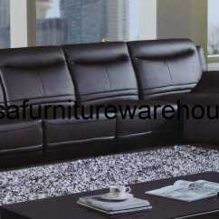 Contemporary Sofa With Wood Trim European Opus Black Leather Modern Sectional Set