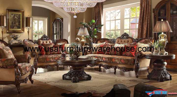 3 Piece Homey Design HD-39 Sofa Set