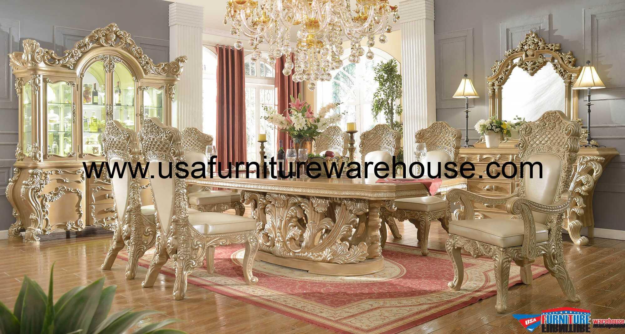 11 Piece Homey Design Royal Kingdom HD7012 Dining Set