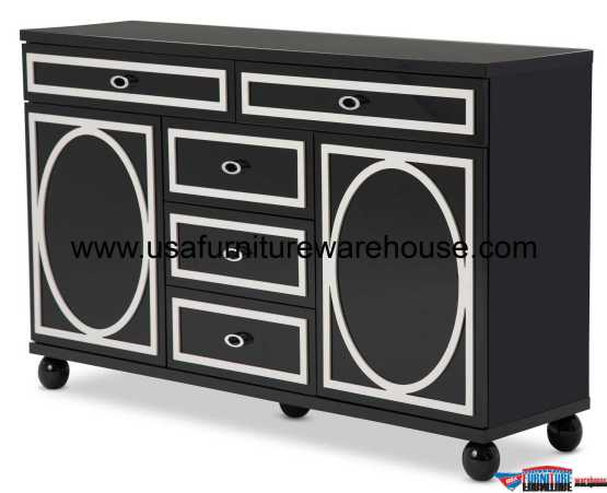 AICO Sky Tower Black Ice Dresser
