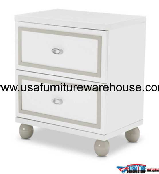 Sky Tower Cloud White Nightstand