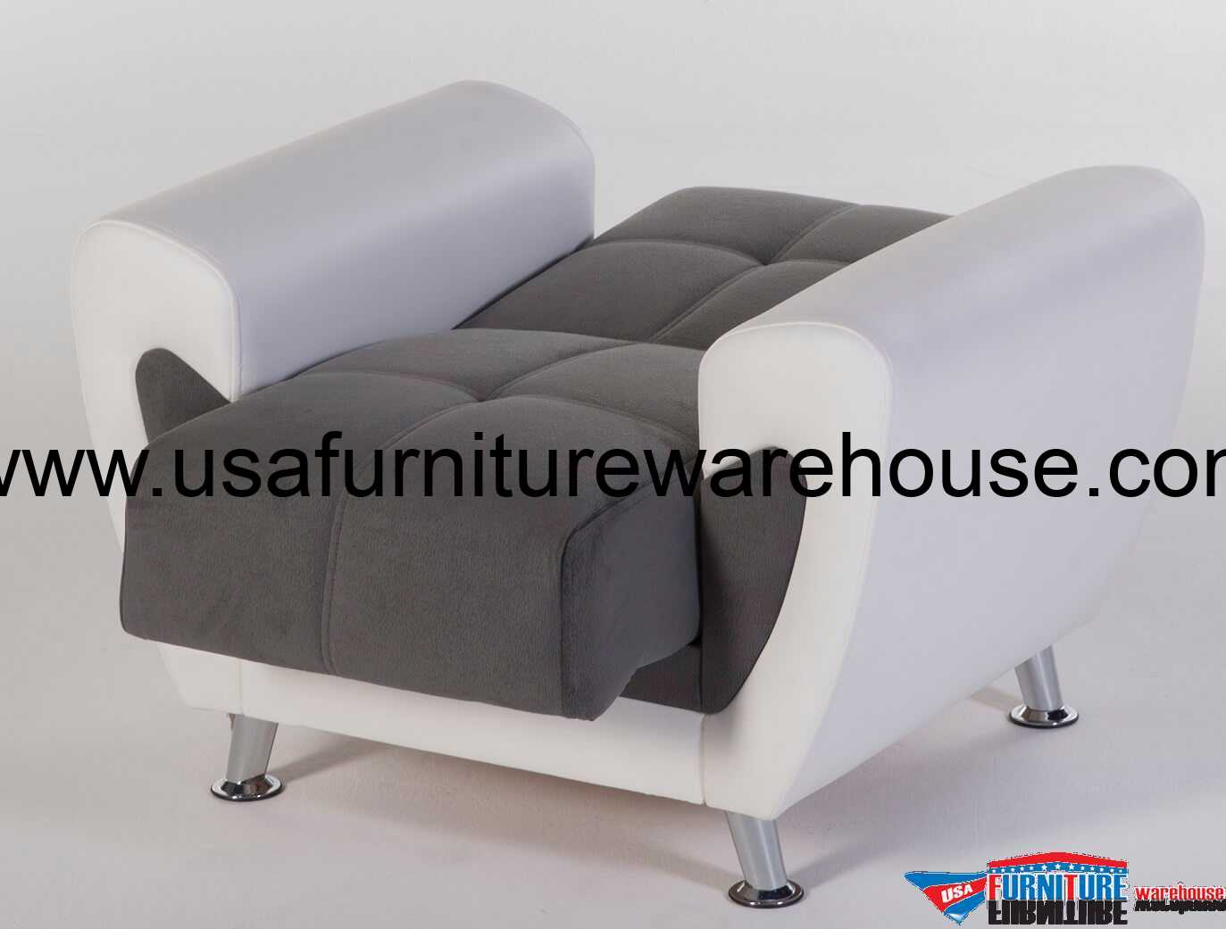 chair bed sleeper plush leather desk duru sofa in cozy gray