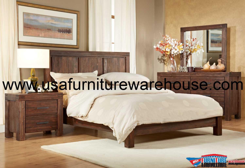 Modus 4 Piece Meadow Solid Wood Bedroom Set