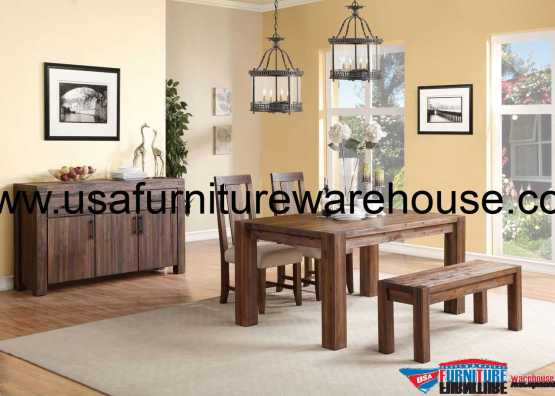 4 Piece Modus Meadow Solid Wood Dining Set