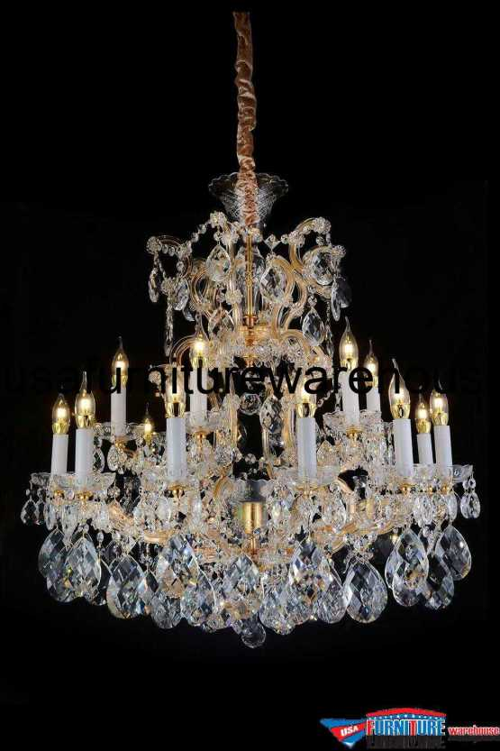 AICO 19 Light San Carlo Chandelier Clear Glass