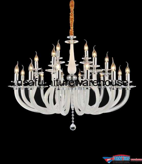 AICO 21 Light San Marco Chandelier Opalescent Glass