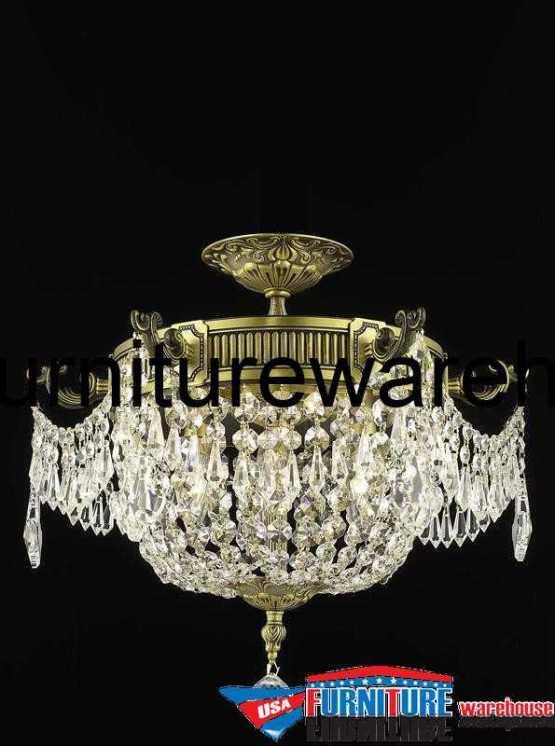 3 Lights Flush Mount 9303F18DB Chandelier 9303 Esperanza Collection
