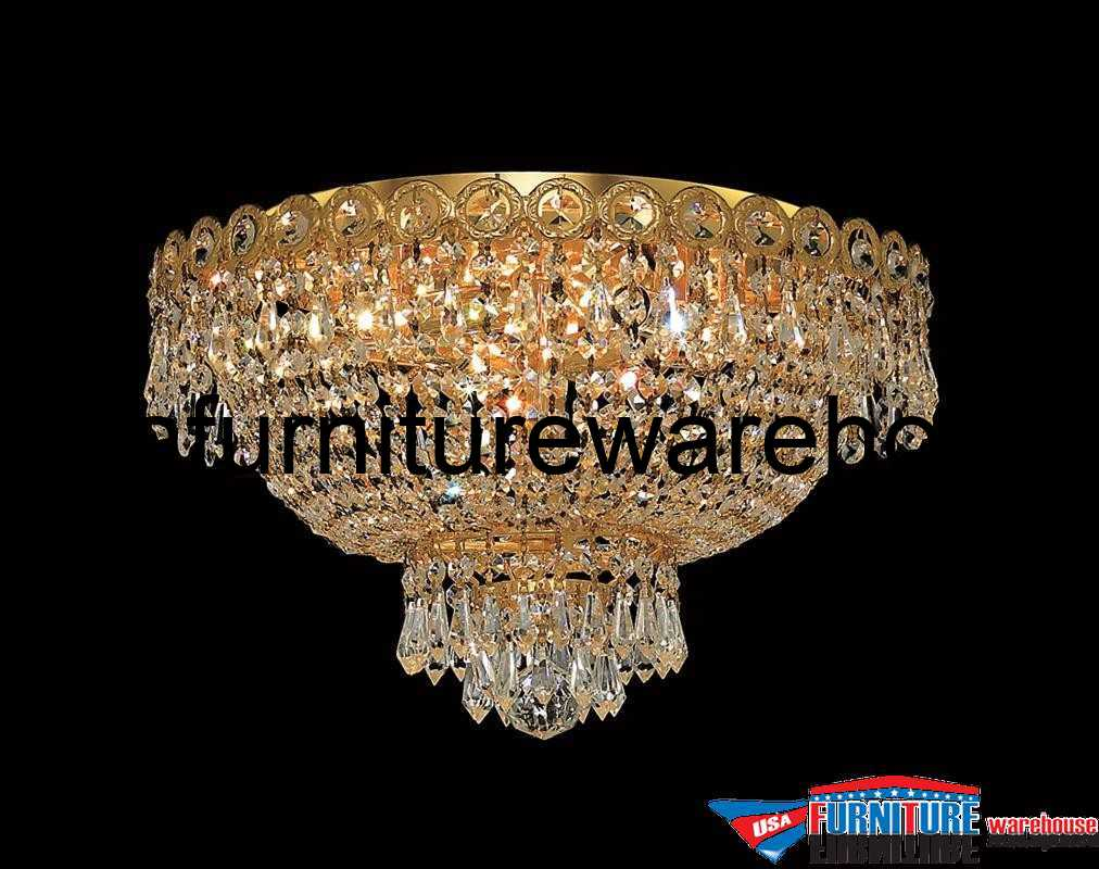 Flush Mount Crystal Chandelier Lighting
