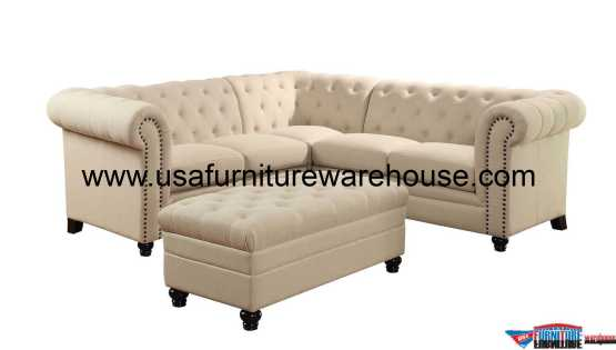 Roy Button-Tufted Sectional Set