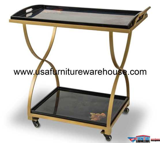 AICO Illusion Accent Serving Cart