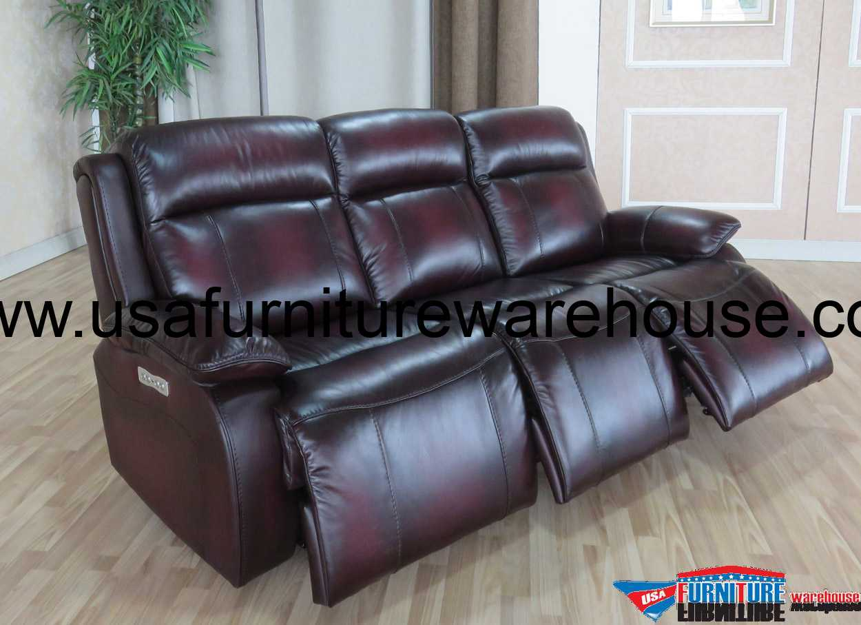 Faraday Top Grain Leather With 3 Power Recliners