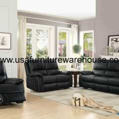 Top Grain Leather Sofa Set Craigslist Dc Sleeper Homelegance Greeley Black Reclining