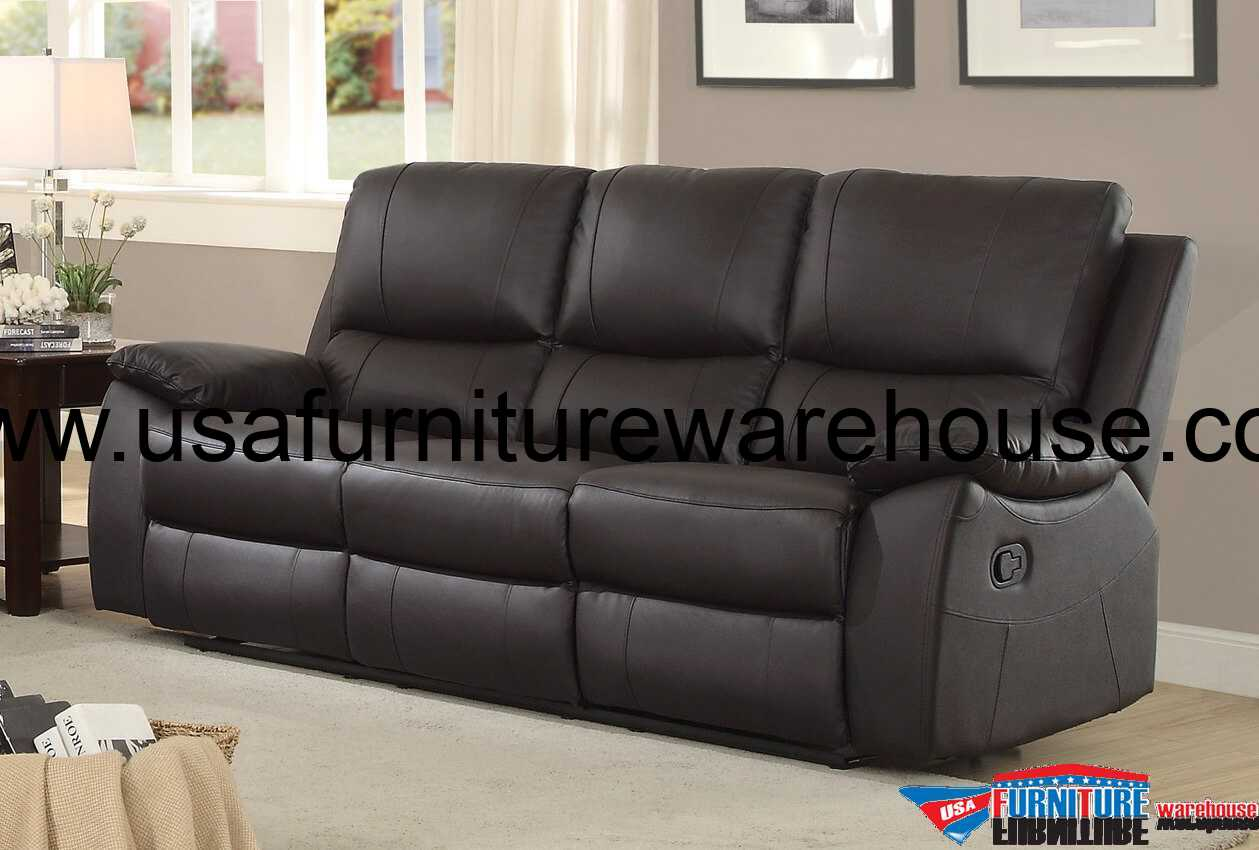 double sofa recliner fix sagging bed with plywood homelegance greeley top grain brown leather