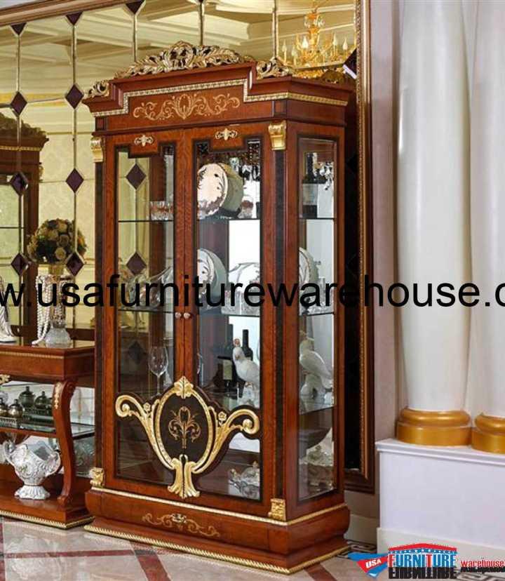 European Luxury 2-Door Showcase Cabinet