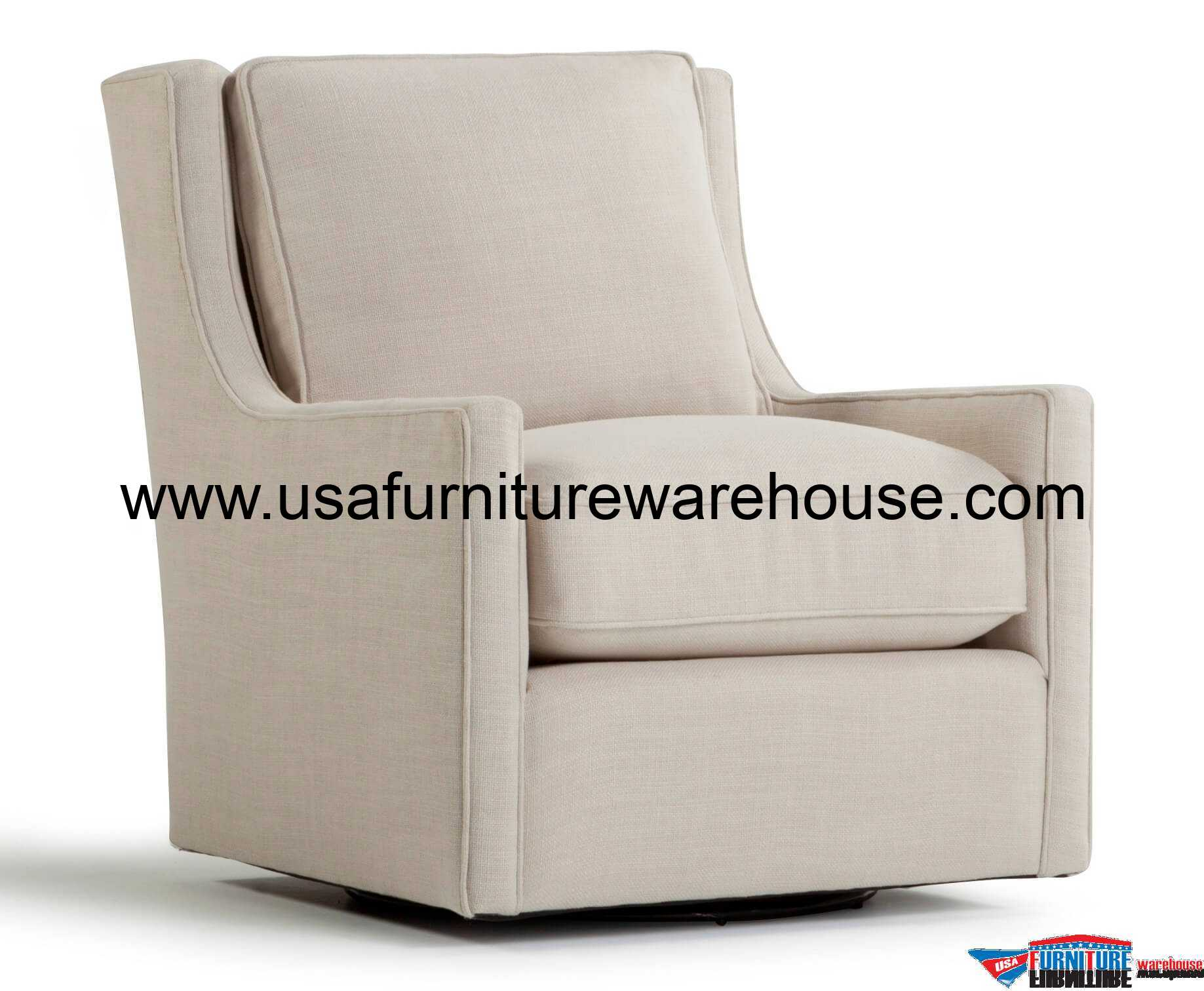 Spectra Home Hugo Swivel Chair Gray