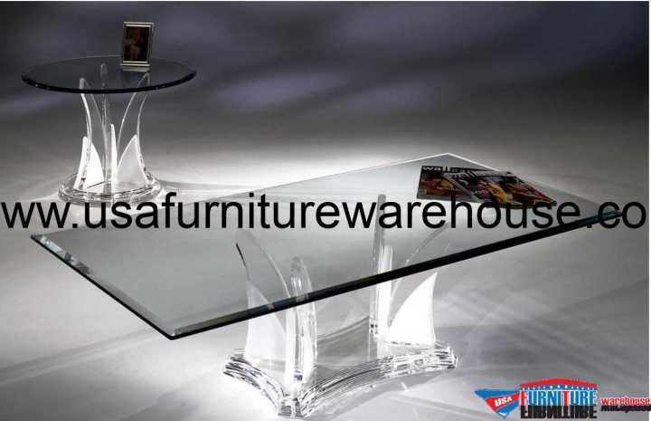 Acrylic Clear Butterfly Coffee Table