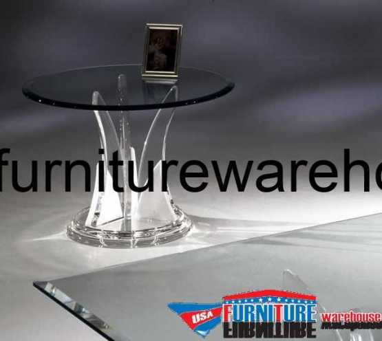Acrylic Clear Butterfly End Table