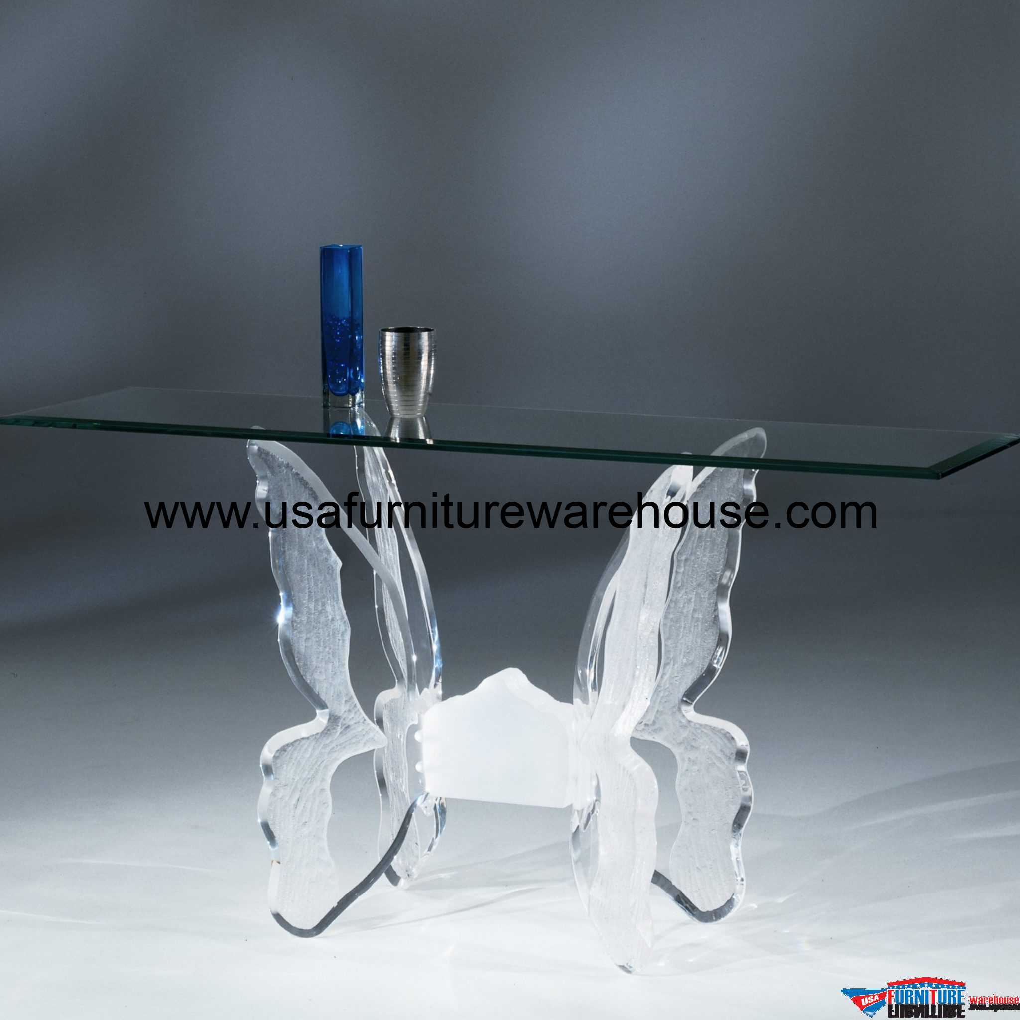 sofa set glass table leather patch for acrylic clear butterfly ii with top