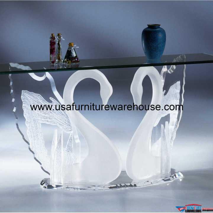 Acrylic Clear Legend Swan Sofa Table
