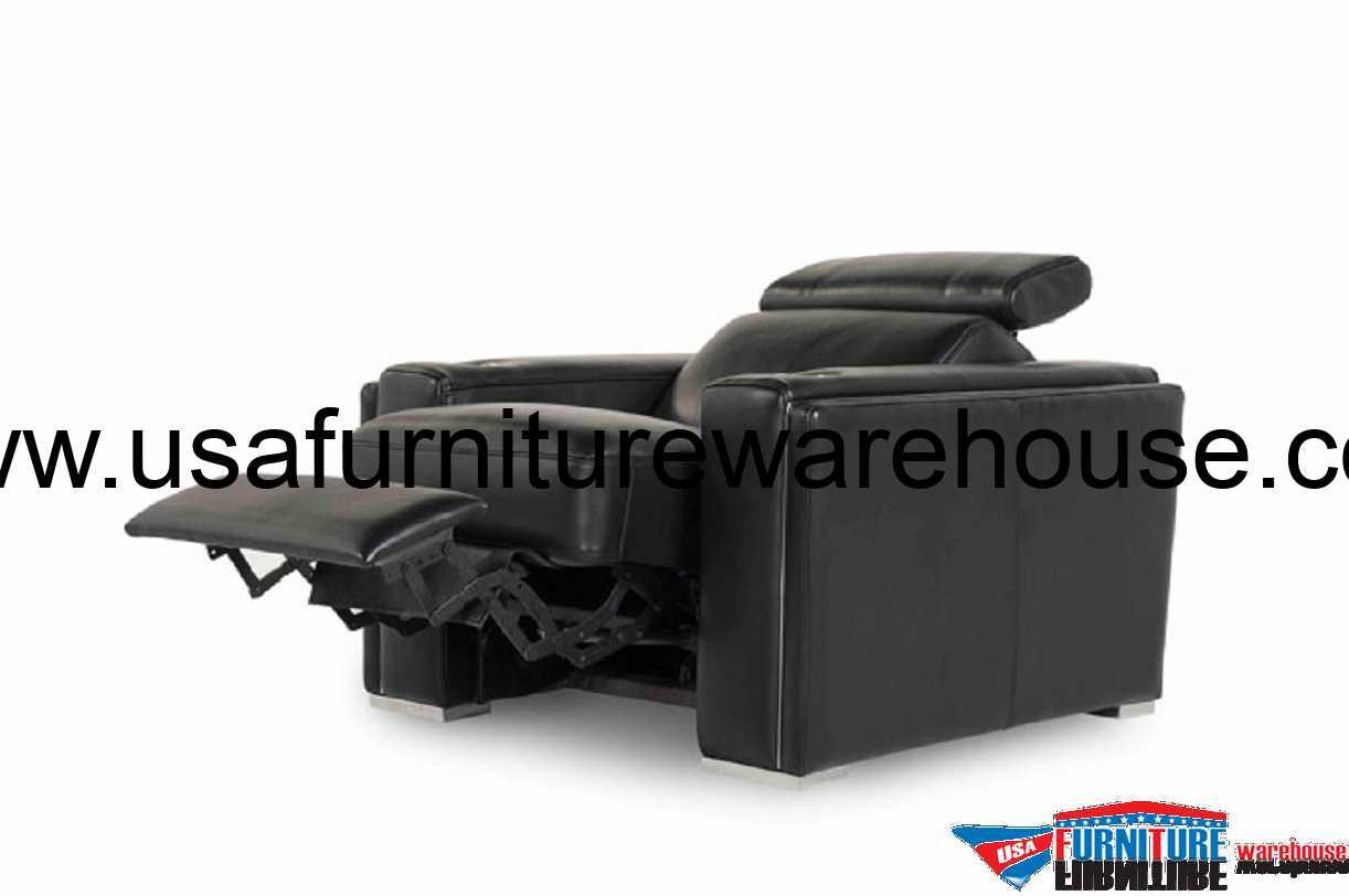 leather sofa recliner furniture beach throws ellie 100 top grain black power reclining