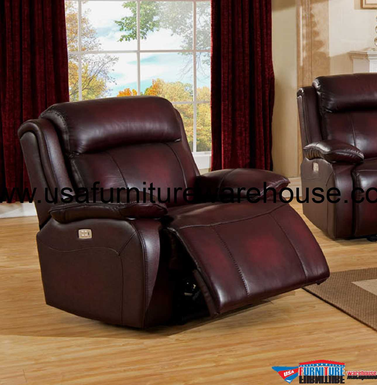 power reclining sofa made in usa brown leather white walls faraday top grain recliner