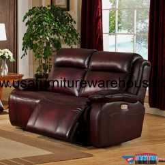 Power Reclining Sofa Made In Usa Where Do You Put A Table Faraday Top Grain Leather Loveseat