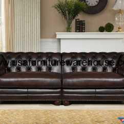 100 Genuine Leather Sofa Macys Kennedy Dark Brown Large