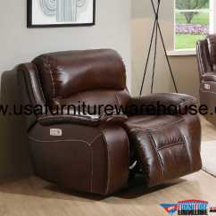 Genuine Leather Power Reclining Sofa Compact L Shaped Westminster Sectional With
