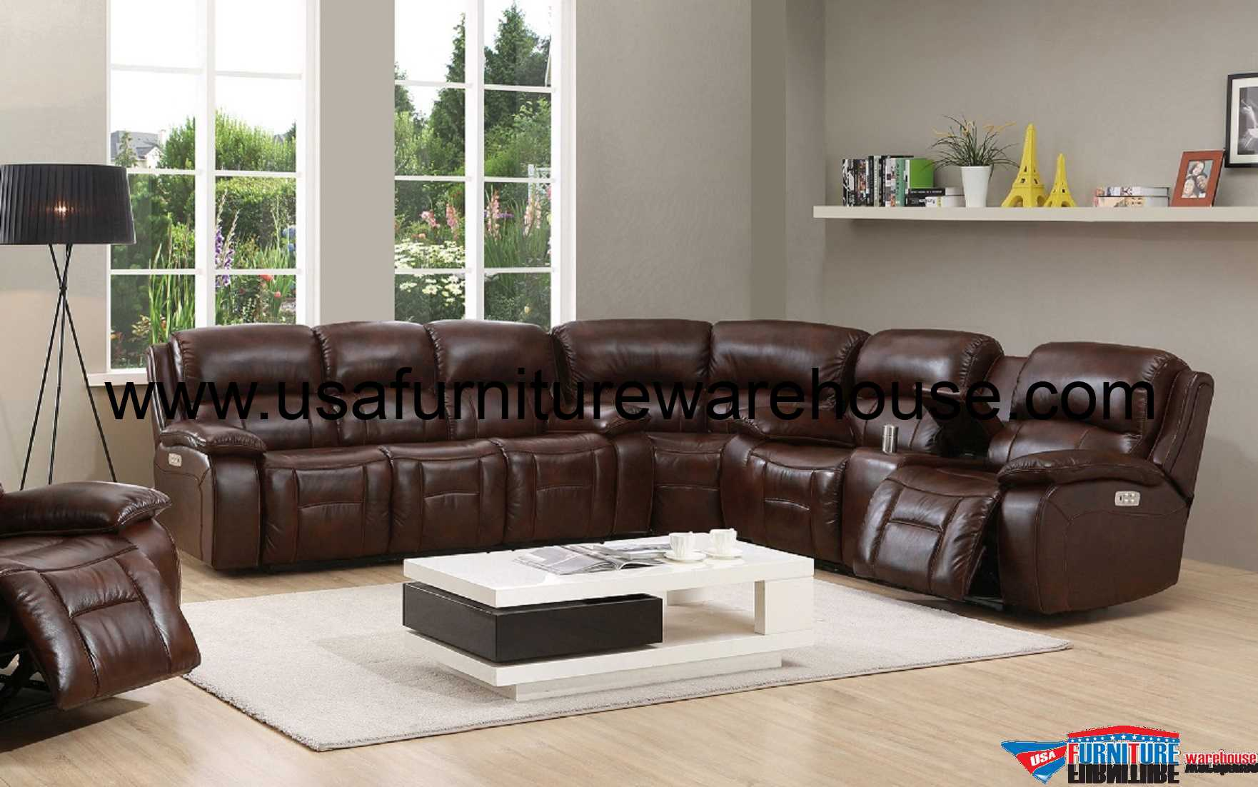 genuine leather power reclining sofa electric recliner sofas uk westminster sectional with