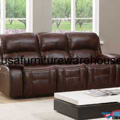 Genuine Leather Power Reclining Sofa Camel Sectional Westminster With