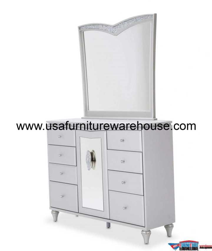 Aico Melrose Plaza Upholstered Drawer Dresser