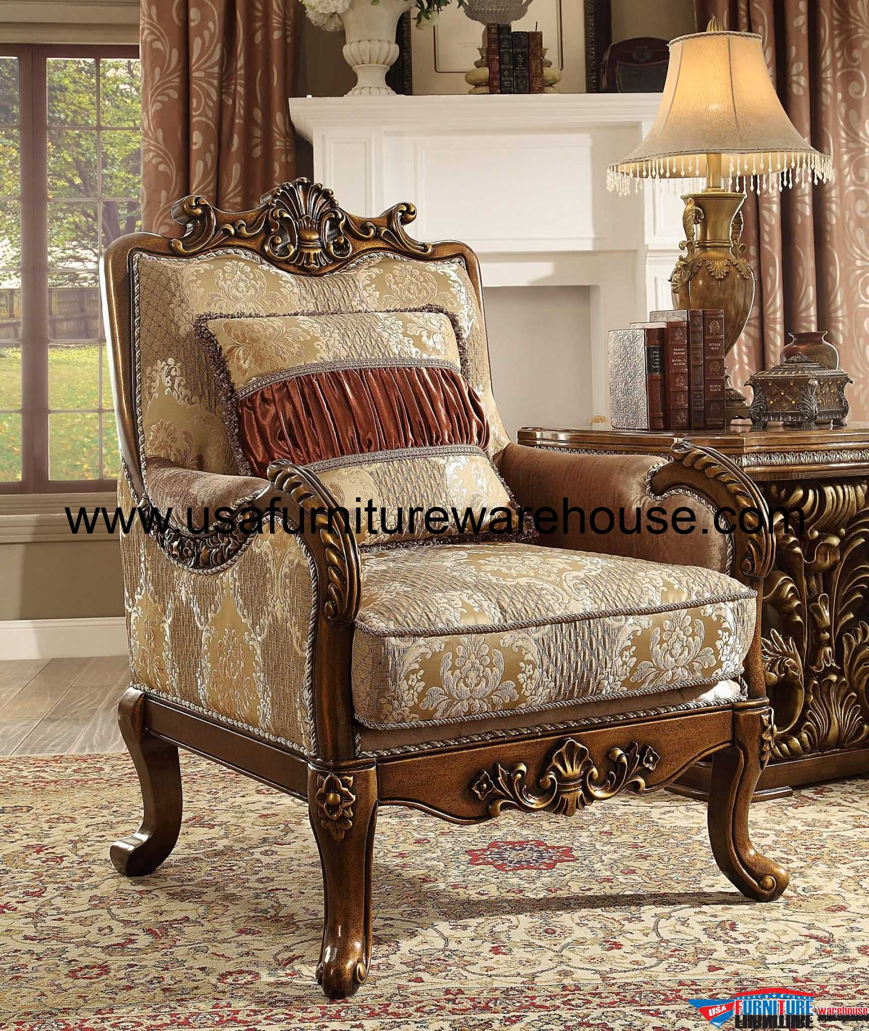 victorian accent chair slipcover for and a half ottoman homey design hd 1601 old world