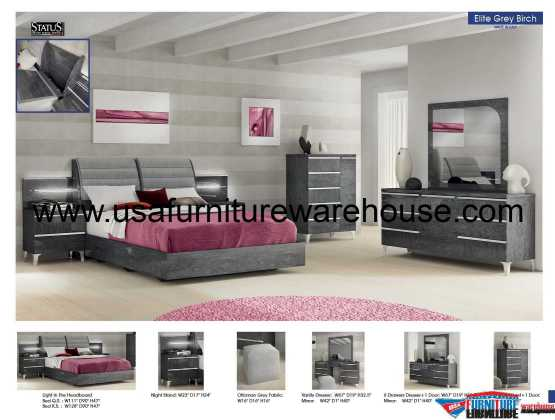 5 Piece Elite Modern Bedroom Set