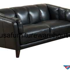Best American Made Leather Sofas Sofa Pillows Frances Full Top Grain Black Loveseat