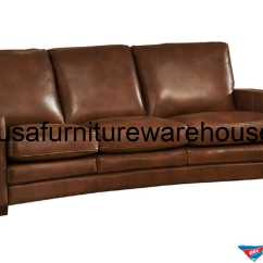 Leather Sofa Outlet Bedroom Joanna Full Top Grain Brown Usa Furniture