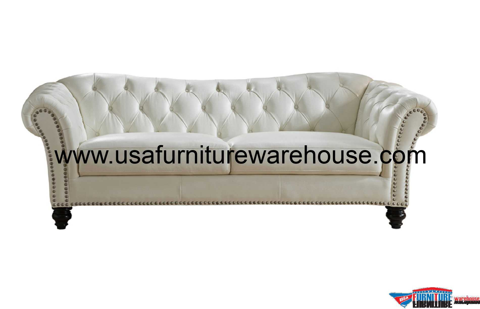 leathers sofa quality beds perth mona full top grain ivory white leather usa