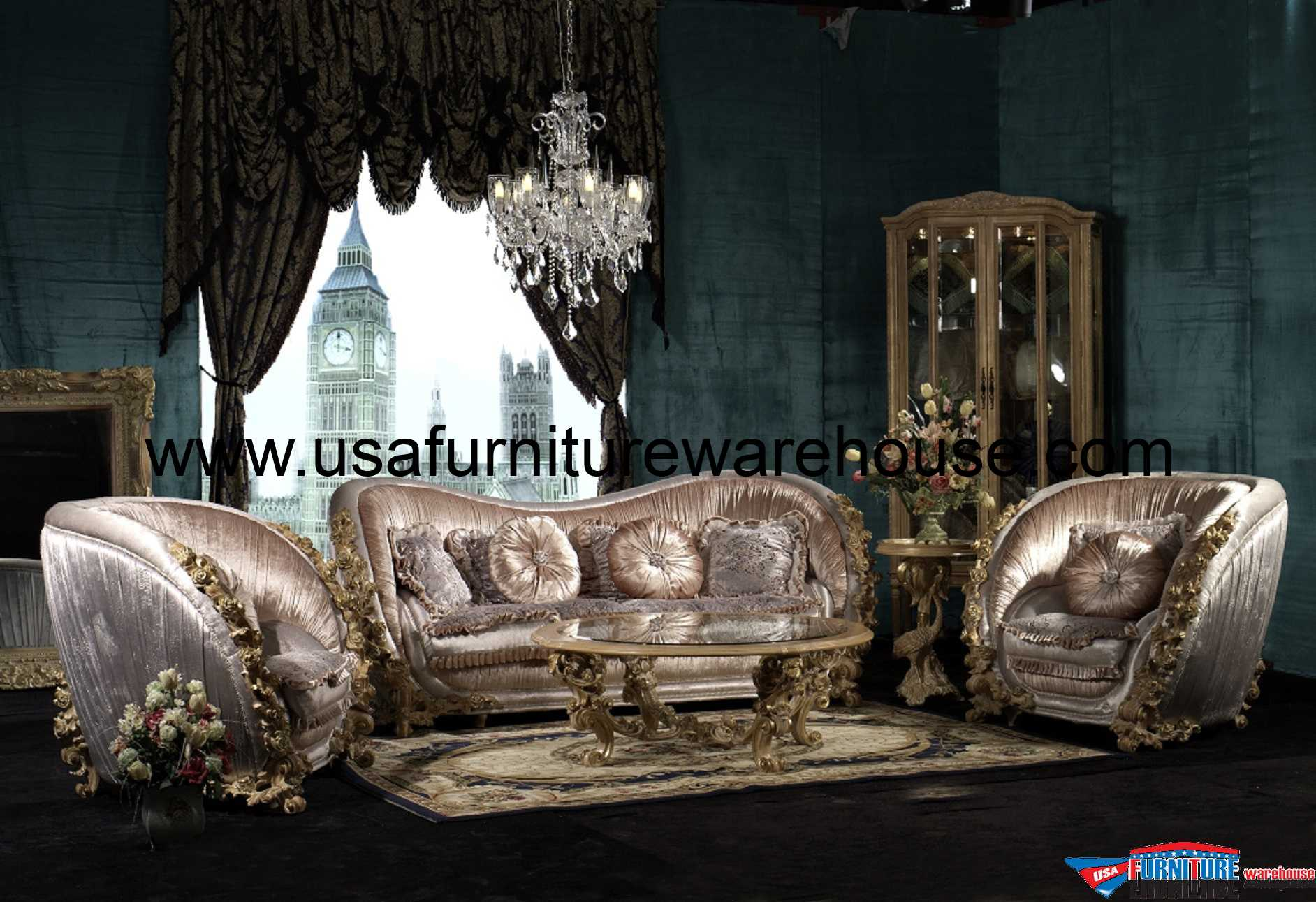 5 Piece George Versailles Luxury Sofa Set