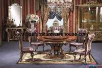 7 Piece George Versailles Luxury Round Dining Set